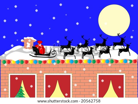 Santa sleigh on the roof stock photo 20562758 shutterstock