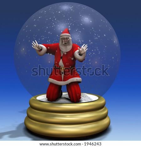 Santa Trapped in Snow Globe Bah Humbug Series