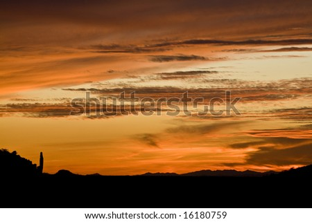 Santan Mountains (near Florence, Arizona) as the sun sets.