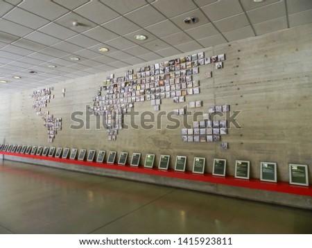SANTIAGO, CHILE - JANUARY 18, 2015: Museo de La Memoria y Los Derechos Humanos (Museum of Memory and Human Rights), dedicated to commemorating the victims of violations, , located at Quinta Normal. #1415923811