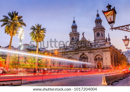 Santiago de Chile, Chile. Plaza de las Armas square in Santiago de Chile. Сток-фото ©