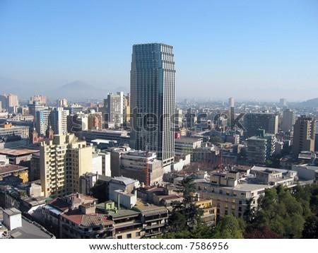 Santiago de Chile from Santa Lucia hill