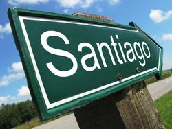 SANTIAGO road sign