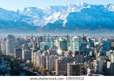 Shutterstock Santiago white cityscape