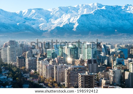 Santiago white cityscape Сток-фото ©