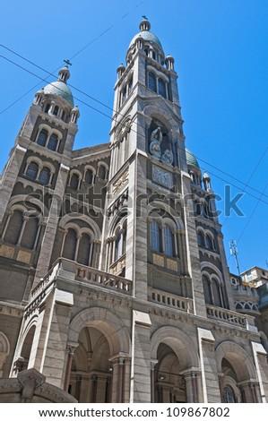 Santisimo Sacramento church facade at Buenos Aires