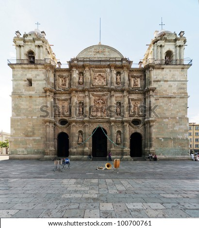 Santo Domingo Church in Oaxaca - Mexico - stock photo