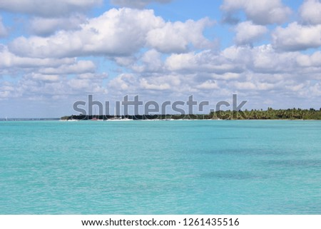 Santo Domingo, Dominican Republic - November 25 2018. Caribbean sea. #1261435516