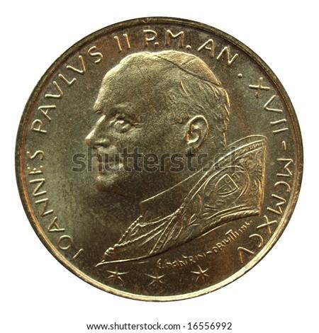 santo subito - saint John Paul II pope coin