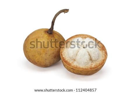Santol fruit isolated on white background - stock photo