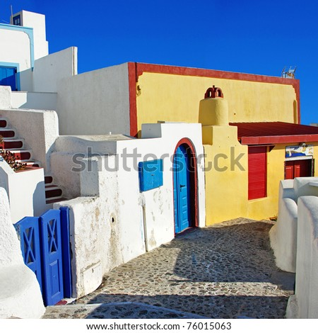 Santorini - colors of Greece series