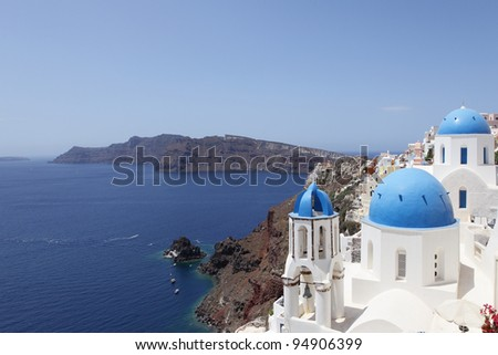 Santorini , is an island in the southern Aegean Sea, about 200 km (120 mi) southeast from Greece's mainland.