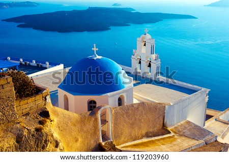 Santorini is the most beautiful island of the Greek islands