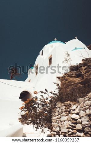 Santorini island city scape #1160359237