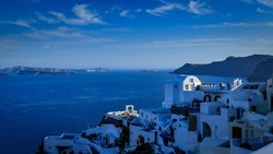 Santorini - officially Thira and classic Greek Thera is an island in the southern Aegean Sea, about 200 km (120 mi) southeast from the Greek mainland.