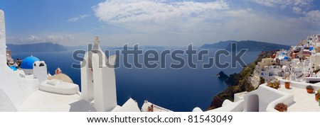 Santorini panoramic view
