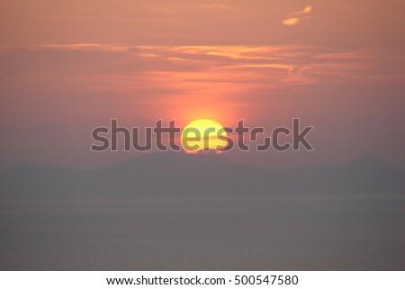 Santorini, sunset #500547580