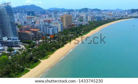 Sanya city beach, Hainan island
