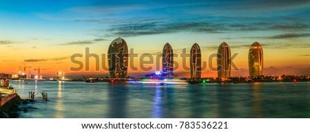Sanya City, Hainan Province, Phoenix Island urban architecture landscape Сток-фото ©