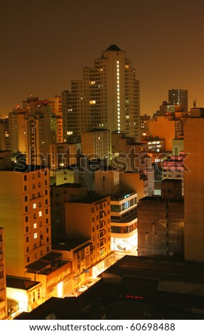 Sao Paolo Brazil skyline at night