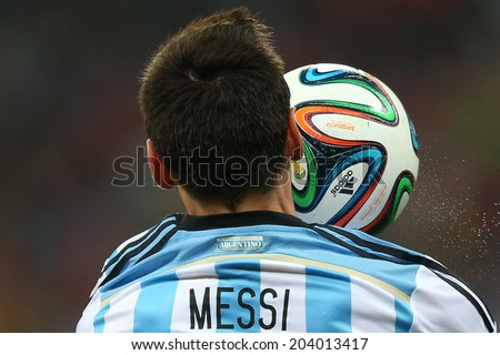 SAO PAULO BRAZIL July 9 2014 Lionel Messi during the 2014 World Cup Semi-finals game between the Netherlands and Argentina at Arena Corinthians NO USE IN BRAZIL