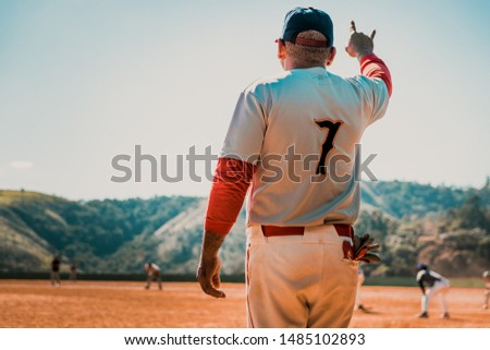 Sao Paulo, SP /Brazil - May 26, 2019: Baseball coach at the field #1485102893