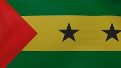 Sao Tome and Principe flag background. National flag of Sao Tome and Principe texture
