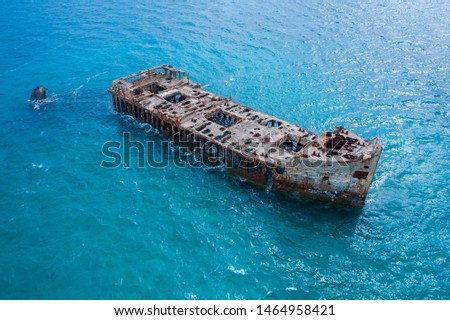 Sapona Shipwreck of the Bahamas in the Caribbean  #1464958421
