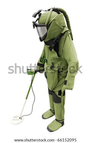 Sapper suit isolated on white