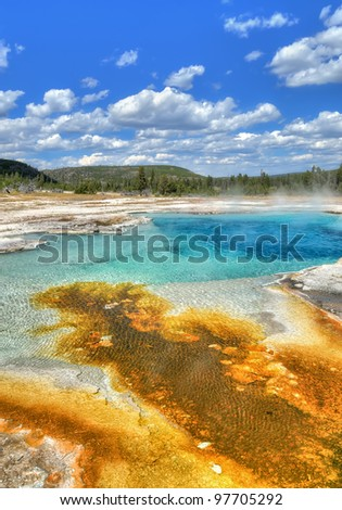 Sapphire Pool in Biscuit Basin, Yellowstone National Park