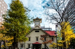 Sapporo Clock Tower is a wooden structure and well-known local tourist attraction. The Clock Tower is a symbol of Sapporo. The tower was constructed during the period of Sapporo's development in 1878.