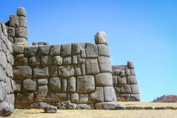 Saqsaywaman, an Inca fortress temple build with giant perfectly fitting stones which is typical for Inca constructions, Cusco, Peru, South America
