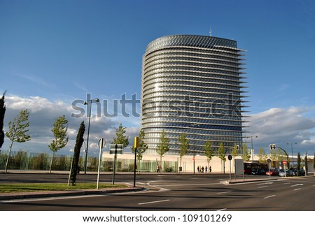 SARAGOSSA - APRIL 23: The Water Tower was built for Expo 08 of Saragossa, on April 23, 2012 in Saragossa, Spain