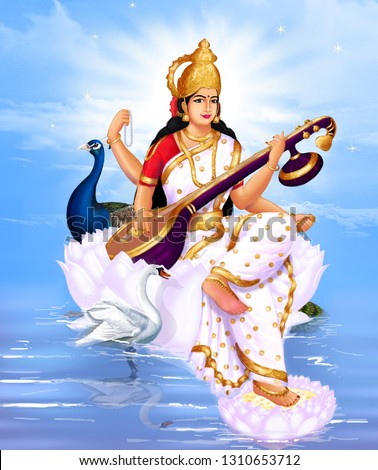 Saraswati is the Hindu goddess of knowledge, music, art, wisdom, and learning. She is a part of the trinity (Tridevi) of Saraswati, Lakshmi, and Parvati.