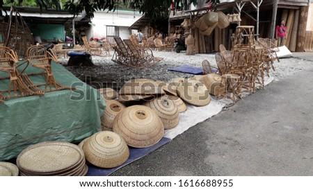 Sarawak handcrafts made of ratan from the jungle