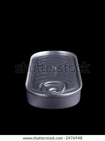 Sardines can, isolated on black, clipping path