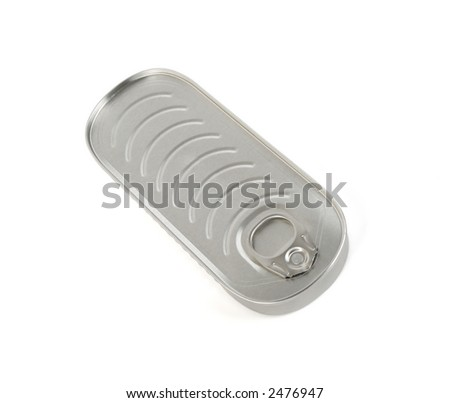 Sardines can isolated on white