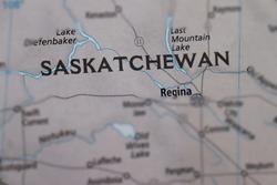Saskatchewan, Canada on a map.