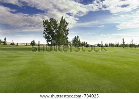 Saskatchewan golf course with vivid blue sky