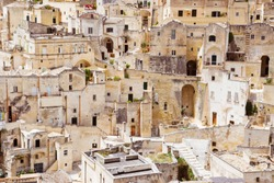 Sassi di Matera, ancient cave dwellings in Basilicata, Southern Italy