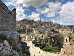 Sassi Matera ancient historical village panorama, Basilicata, Italy