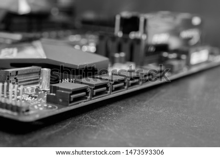 Motherboard details, computer and electronics modern