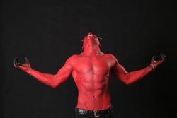 Satan Devil angry emotion six pack