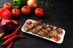 Satay goat satay, lamb, lamb or meat goat satay