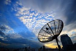 Satelite dish on blue sky