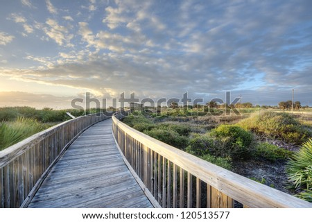 Satellite Beach at Sunrise