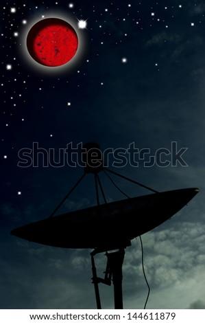 Satellite dish and star