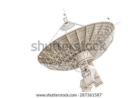 satellite dish antenna radar big size isolated on white background #287361587