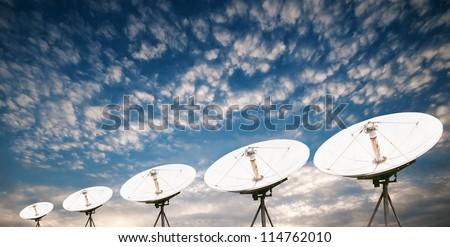 satellite dish antennas under sky #114762010