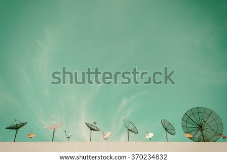 satellite dish antennas under...